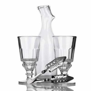 absinthe drip carafe spoons pntarlier glass
